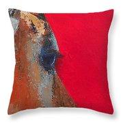 Impala On Crimson Close-up Throw Pillow