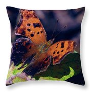 Imperfect Satyr Comma Throw Pillow