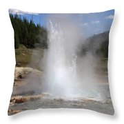 Imperial Geyser, Yellowstone Np Throw Pillow