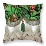 Imperial Russian Curtains Throw Pillow by KG Thienemann
