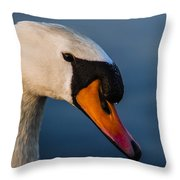 Imperial Swan Throw Pillow