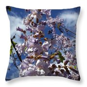 Imperial Tree Flowers Throw Pillow