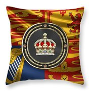 Imperial Tudor Crown Over Royal Standard Of The United Kingdom Throw Pillow