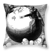 Imperialism Cartoon, 1876 - To License For Professional Use Visit Granger.com Throw Pillow