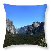 Imposing Alpine World - Yosemite Valley Throw Pillow