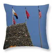 Imposing Flags Throw Pillow