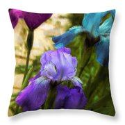 Impossible Irises Throw Pillow