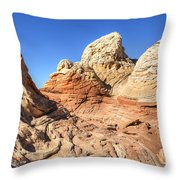 Impossible Rock Formations In The White Pocket Throw Pillow
