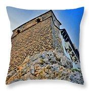 Impregnable Wall. Bran Castle - Dracula's Castle. Throw Pillow