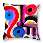 Impression #50 Throw Pillow