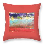 Impression Collection I In Sight Of Land  Throw Pillow