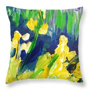 Impression Flowers Throw Pillow