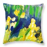 Impression Flowers Throw Pillow