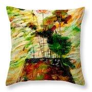 Impression In Lotus Tree Throw Pillow