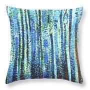Impression Of Trees Throw Pillow