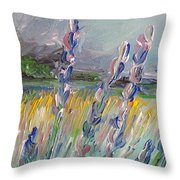 Impressionism Fantasy Field Throw Pillow