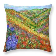 Impressionism- Flowers- Dreaming Of Spring Throw Pillow