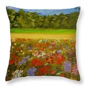 Impressionism Flowers- Pretty Posies Throw Pillow