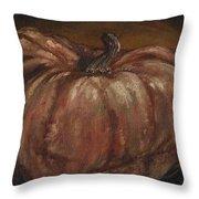 Impressionist Autumn Pumpkin Throw Pillow