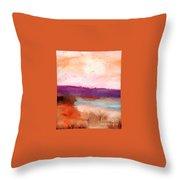 Impressionist Beach Scene Throw Pillow