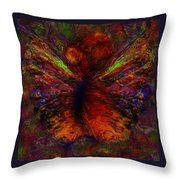 Impressionist Butterfly Throw Pillow
