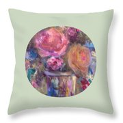 Impressionist Floral Art Throw Pillow