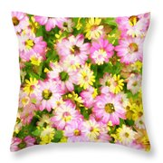 Impressionist Floral Ix Throw Pillow
