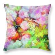 Impressionist Floral Xxxi Throw Pillow