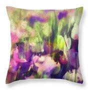 Impressionist Floral Xxxvi Throw Pillow