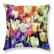 Impressionist Floral Xxxvii Throw Pillow
