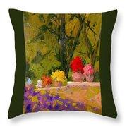 Impressionist Garden  Throw Pillow
