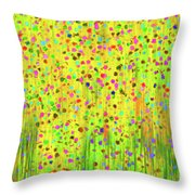 Impressionist Meadow Throw Pillow