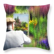Impressionist Painter Throw Pillow