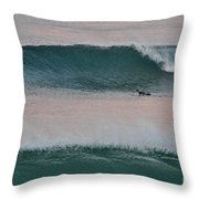Impressionist Surfing  Throw Pillow