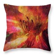 Impressionist Vibrant Daylily 1208 Idp_2 Throw Pillow