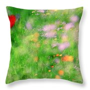 Impressionistic Blossom 5 At Britain Park Throw Pillow