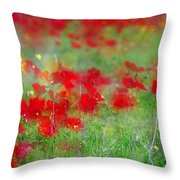Impressionistic Blossom Near Shderot Throw Pillow
