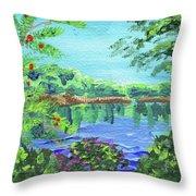 Impressionistic Landscape Xx Throw Pillow