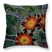 Impressionistic Lilies Throw Pillow