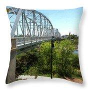 Impressionistic Llano Bridge Throw Pillow