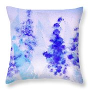 Impressionistic Lupines 1 Throw Pillow