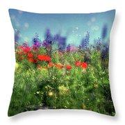 Impressionistic Springtime Throw Pillow