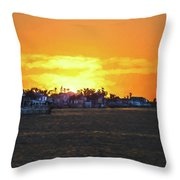 Impressionistic Sunset Throw Pillow