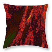 Impressions Of A Burning Forest 10 Throw Pillow