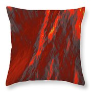 Impressions Of A Burning Forest 6 Throw Pillow