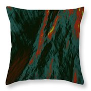 Impressions Of A Burning Forest 7 Throw Pillow