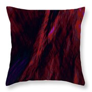 Impressions Of A Burning Forest 8 Throw Pillow