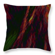 Impressions Of A Burning Forest 9 Throw Pillow