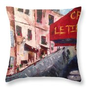 Impressions Of A French Cafe Throw Pillow