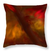 Impressions Of Red And White Leaves Throw Pillow